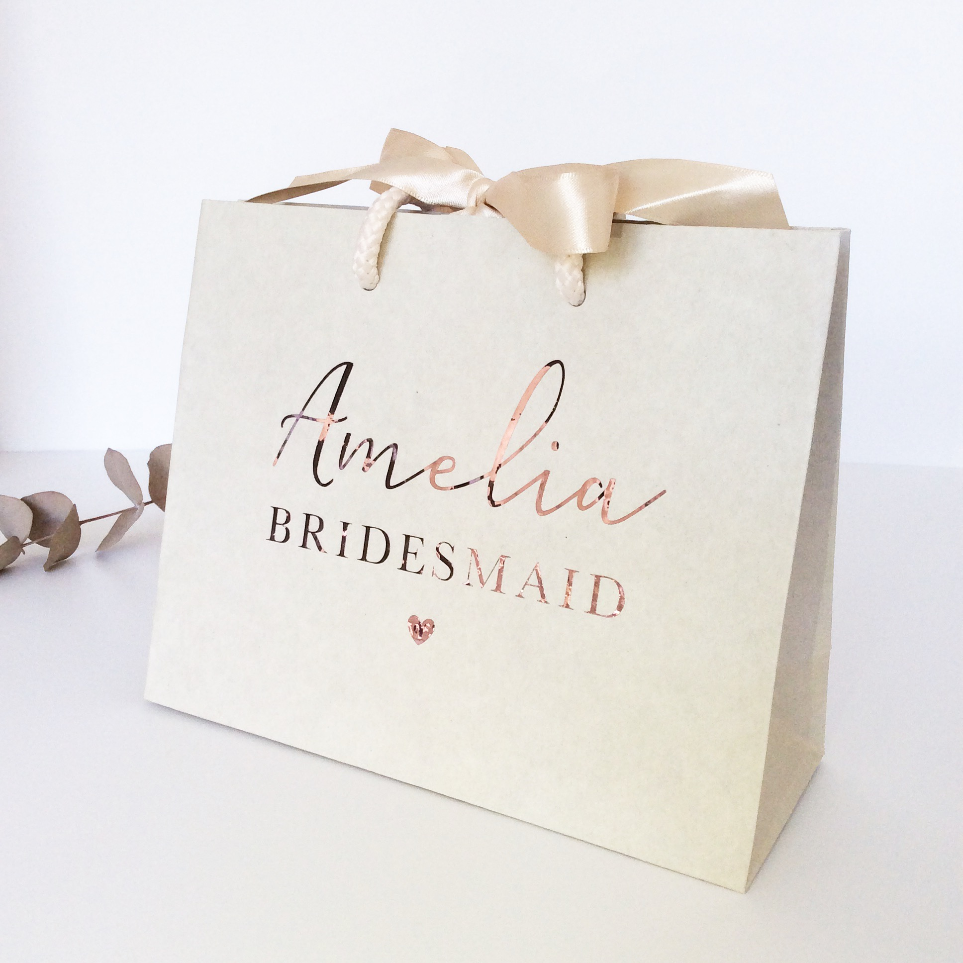 Wedding Gift Vouchers: Personalised Luxury Wedding Gift Bag