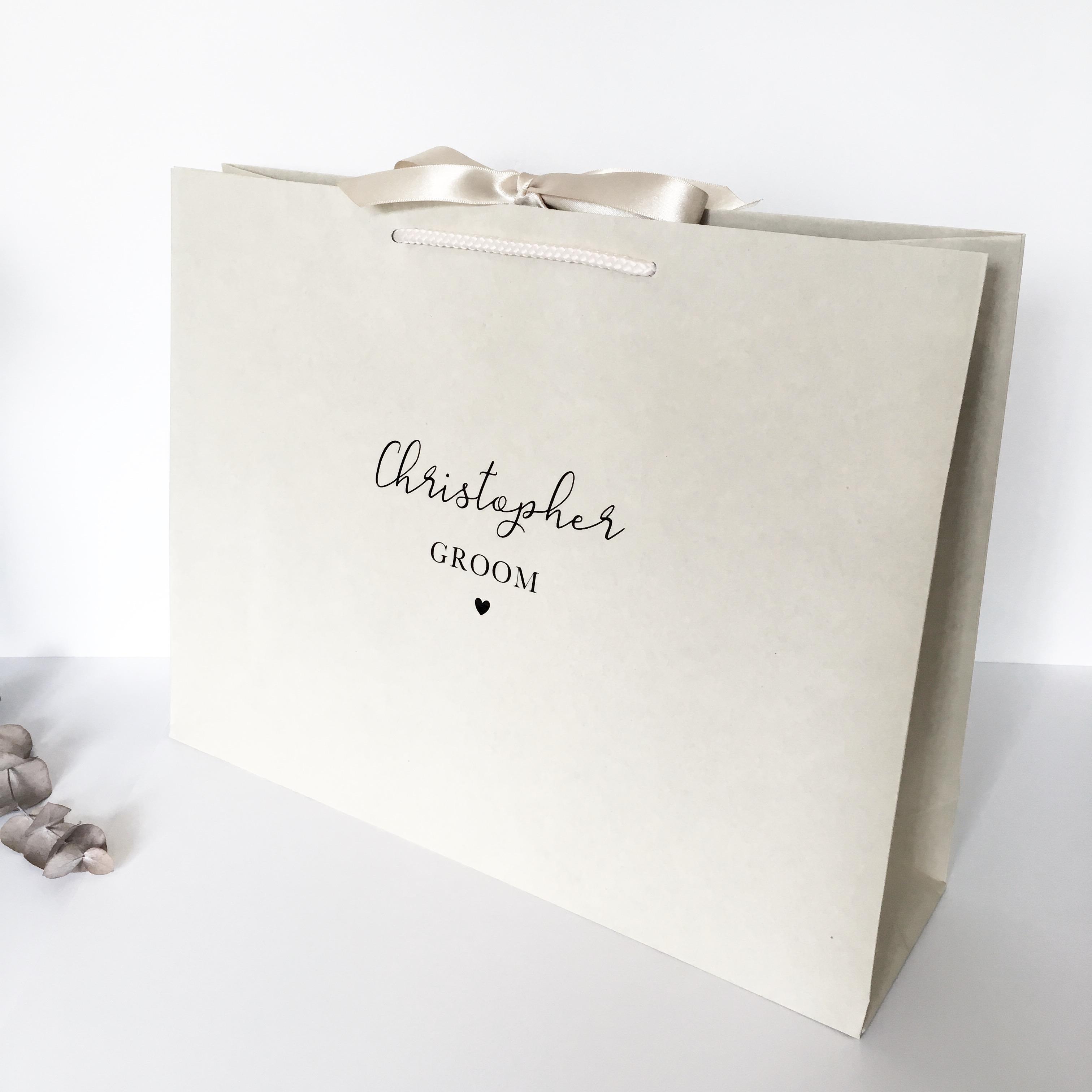 Luxury Wedding Gift Ideas: Personalised Luxury Wedding Gift Bag