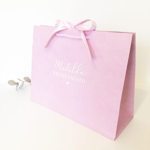 Personalised Luxury Pink Wedding Gift Bag