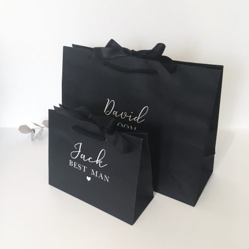 Personalised Luxury Black Wedding Gift Bag