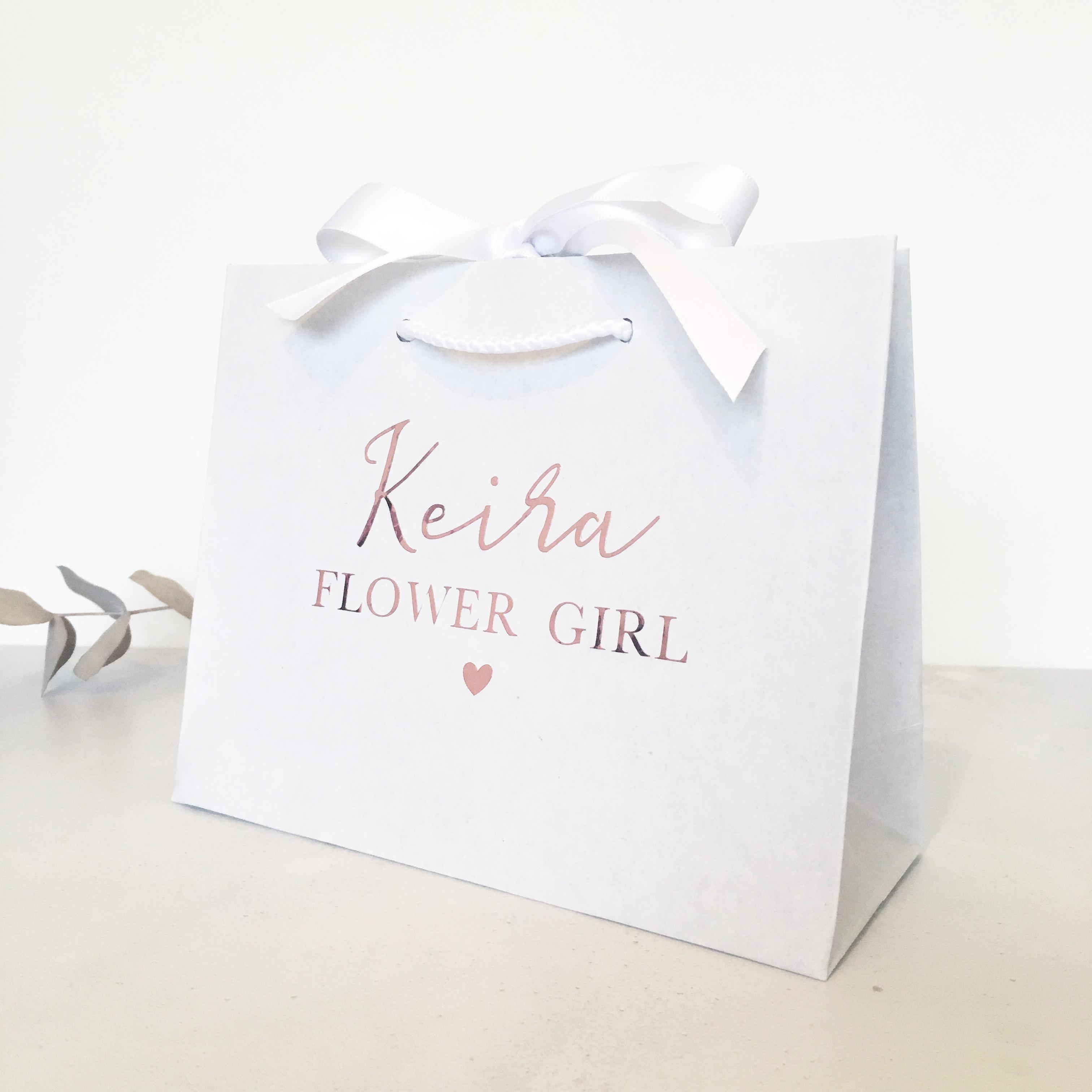 Personalised Luxury White Wedding Gift Bag