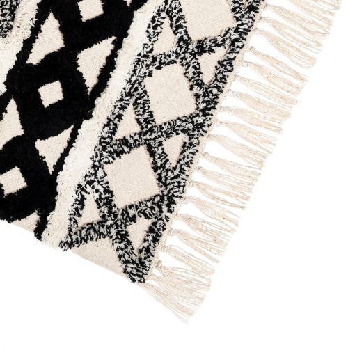Scandi Boho Cotton Tassel Rug