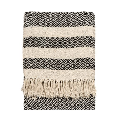 Scandi Boho Tassel Cotton Blanket Throw