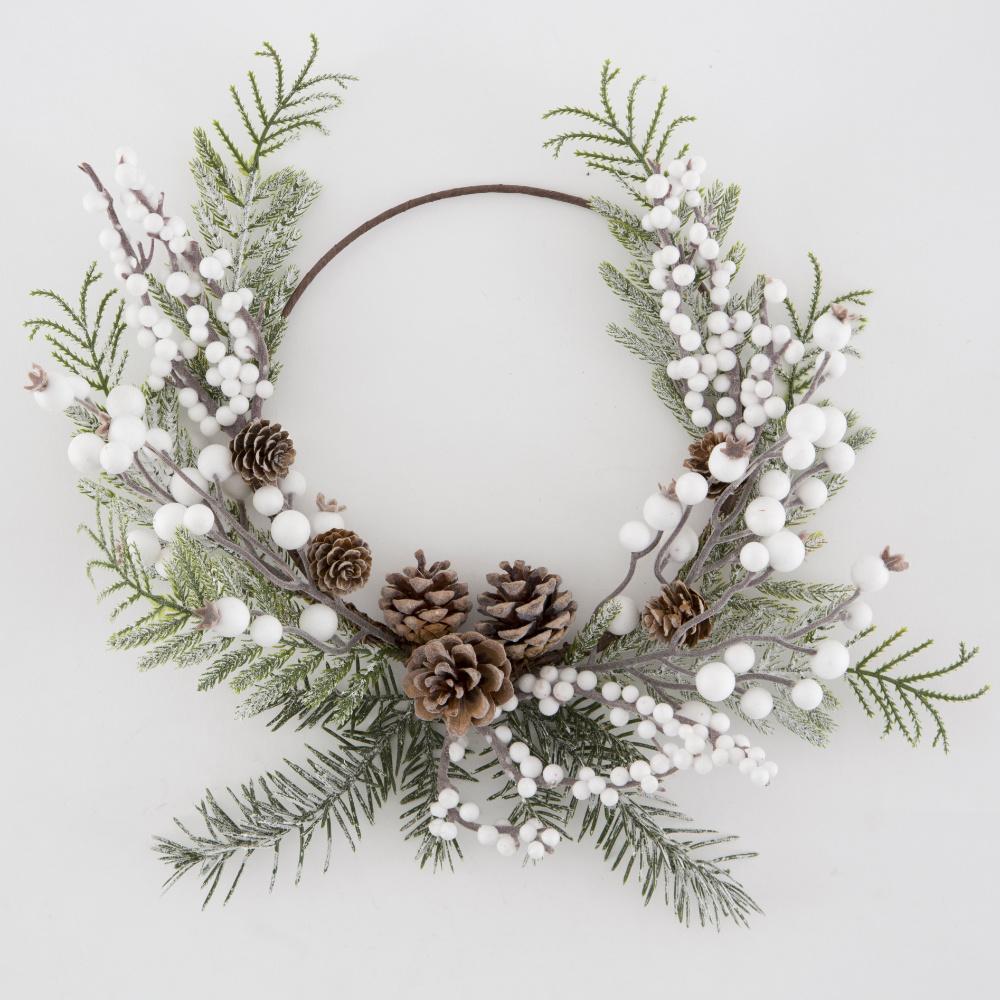 Frosty Hoop Wreath