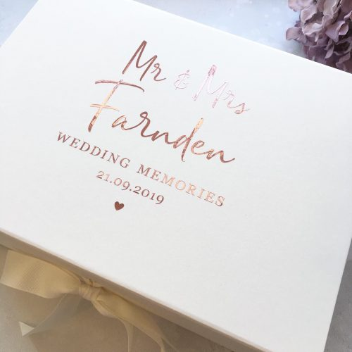 Personalised Large Wedding Keepsake Box