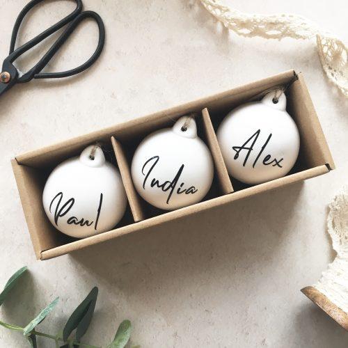 Personalised Ceramic Bauble